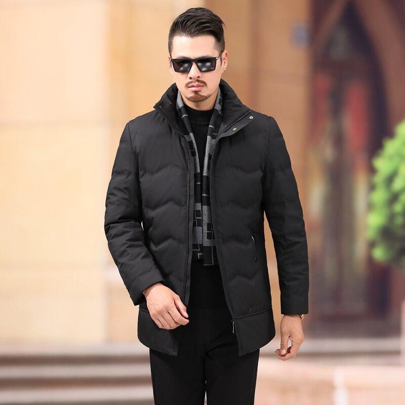 Invierno Llegada Casual Abrigo Tamaño 2018 Chaqueta 7xl Moda Cálido Hombres  Abajo Negro Hombres Pato Nueva ... e884a7cfef