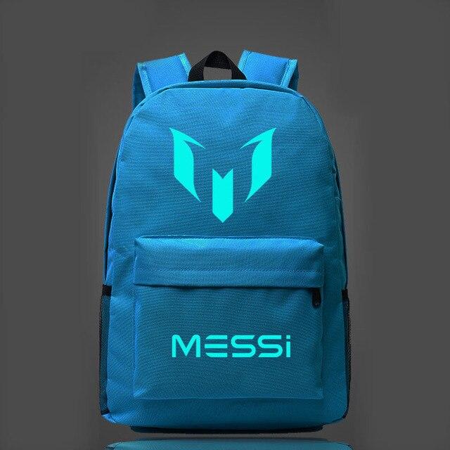 0943d4cb3 Nueva Luminoso Messi Impresión de la letra Ocasional de Los Hombres Mochila  Mochila mujeres oxford Mochila