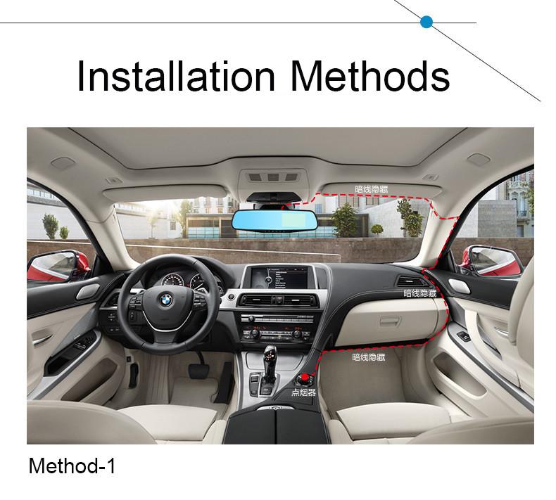 E-ACE Car Dvr 1080P Dual Lens Dash Camera Rear Mirror Digital Recorder With Rearview Camera Video Recorder Camcorder Registrar 29