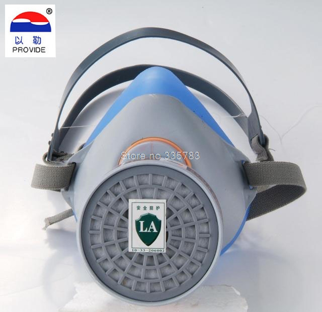 respirator gas mask blue Silicone High quality carbon filter mask pesticides paint spray industrial safety gas mask стоимость