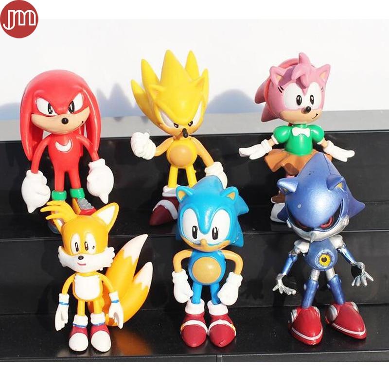 New 6 Pcs Jp Anime Sega Super Sonic The Hedgehog Pvc Action Figures Toy Loose Set 6cm Amy Tails Mephiles Knuckles Brinquedos Figure Toy Action Figure Toyssuper Sonic Aliexpress