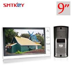 9 дюймов видео-телефон двери 700TVL цвет видео домофон система