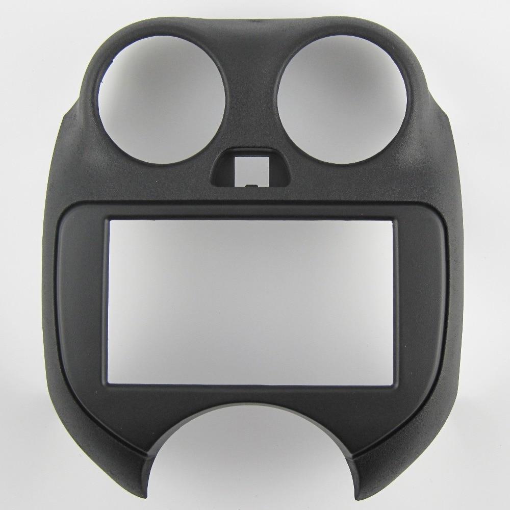 Nissan Micra k13 instalación marco doble 2 din KFZ radio diafragma radio diafragma negro