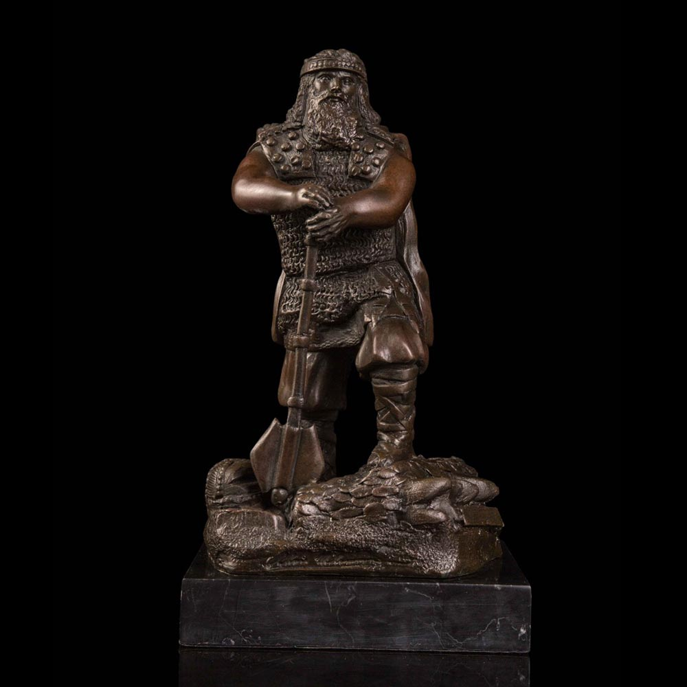 ATLIE BRONZES Classical Male Pirate Bronze Sculpture and Statue Vintage Brass Figurine for ...