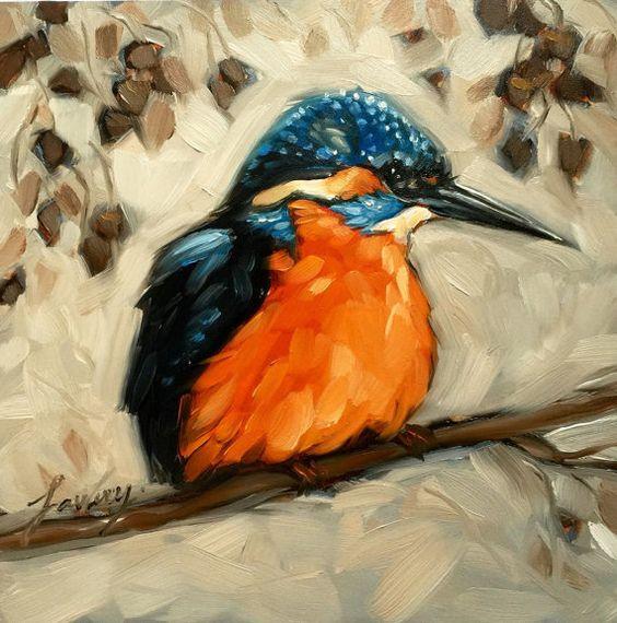 Peint à la main chine usine drôle moderne animaux oiseaux peinture à l'huile mur Art pour les décorations de salon