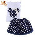 Monkids 2017 Summer Girls Skirts Pretty Princess Baby Girl Skirts Princess Style Mini Tutus Skirts+Top Clothes Short Sleeve