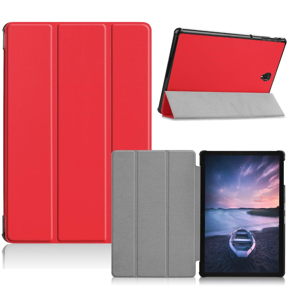 Case For Samsung Galaxy Tab S4 2018 10.5 Inch SM-T830 T835 Magnetic PU Leather Smart Stand Cover For Samsung Galaxy S4 10.5 Case