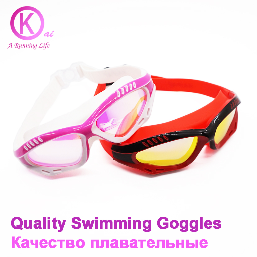Quality Swimming Goggles women and men swimming glasses for swimming swimwear swimming pool plating lens