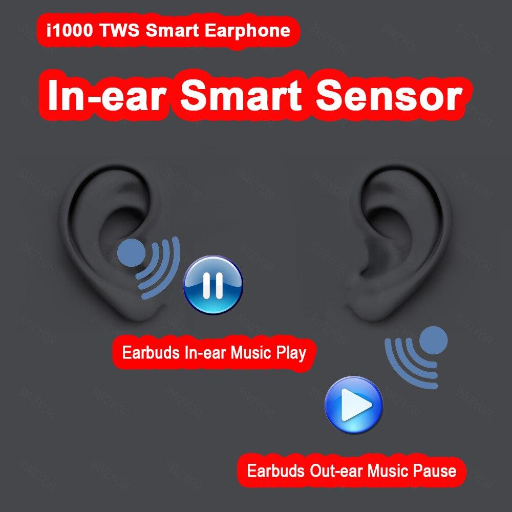 I1000 TWS dans l'oreille capteur intelligent sans fil écouteur 8D Super son écouteurs Pop up Bluetooth 5.0 écouteurs Pk i100 i200 i800 TWS - 4
