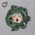 Embird patch Embroidered iron on patches pack The Bleeding Medusa ceo-friendly large patches for jackets patch