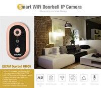 ESCAM QF600 HD 720P Smart Wireless Doorbell WiFi IP Doorbell Camera Home Security PIR Sensor Wi