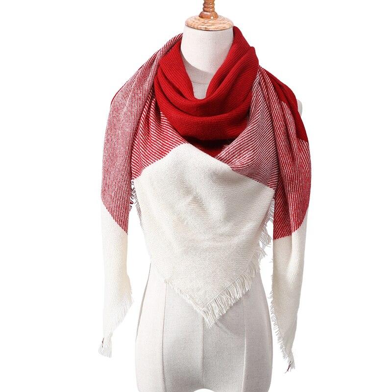 Бандана палантин платок на шею шарф зимний Дизайнер трикотажные весна-зима женщины шарф плед теплые кашемировые шарфы платки люксовый бренд шеи бандана пашмина леди обернуть - Цвет: c12