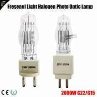 Theater Studio 2000w Lamp Bulb Spotlight FTL2000 G15 G22 G38 Fresenel Ari Spot Lamp 2000 Watt for Filming Photography Equipment