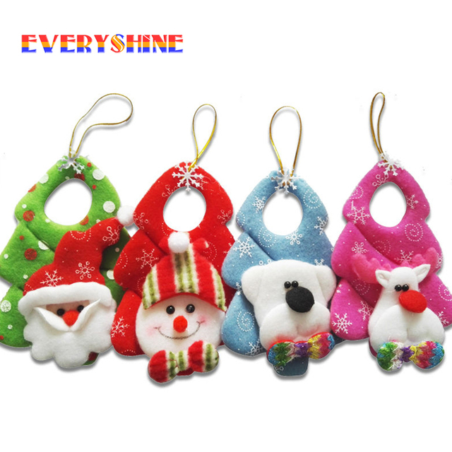 New Year Pcs Mini Santa Claus Snowman Drop Pendants Gifts Christmas Decorations Indoor Tree Hanging Ornaments