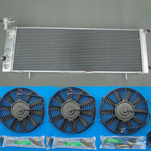 3-мя рядами красивых Алюминий радиатор& 3* вентилятор для JEEP Cherokee XJ 4,0 242 CID L6 1991-2001 91 92 93 94 95 96 97 98 99 00 01 по низкой цене