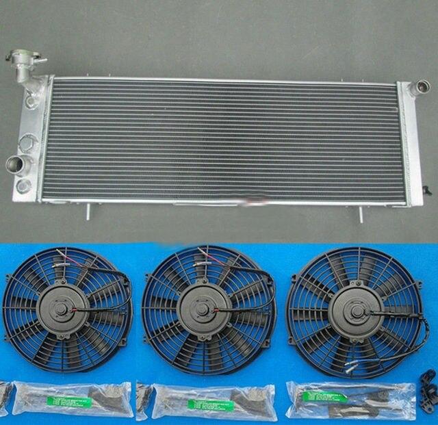 3 Rows Aluminum Radiator & 3* FAN 1991 2001 For JEEP Cherokee XJ 4.0 242 CID L6 91 92 93 94 95 96 97 98 99 00 01 Low Price