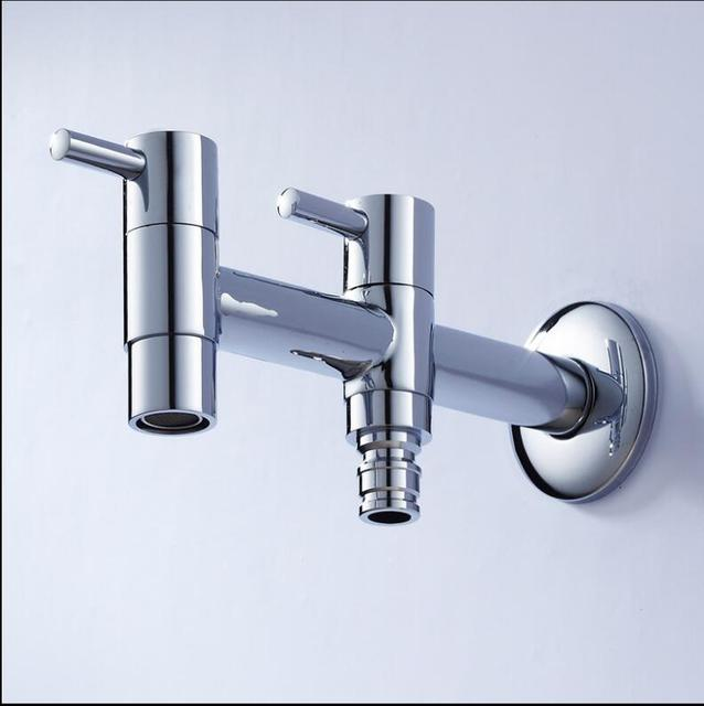 Brass Double Handle Double use Garden Faucet bib cock faucet washing