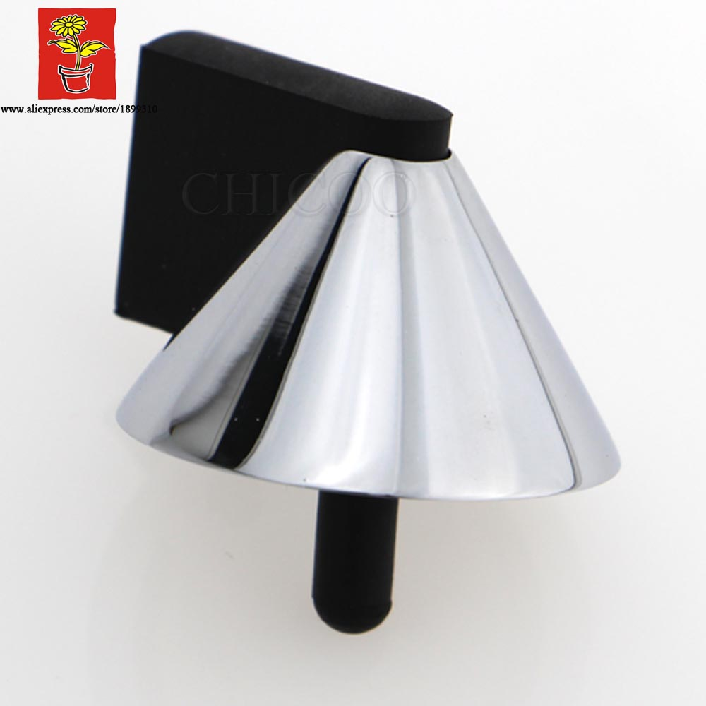 ღ ღWholesale 10PCS White chrome pyramid door stops 9820c2a1f23b