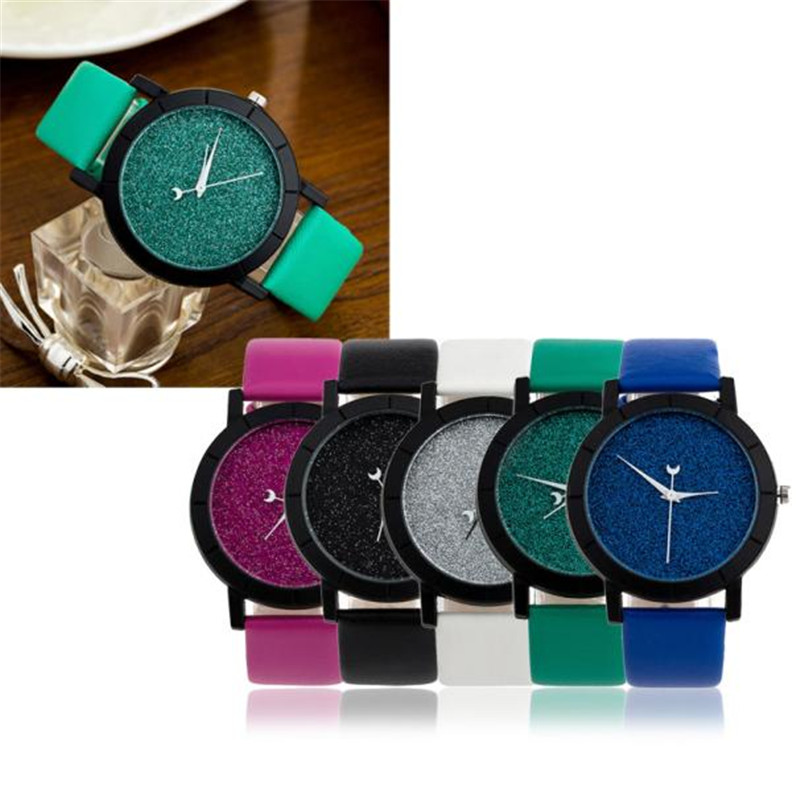 2017 Hot Sale Star Minimalist Fashion Watches couple watch For Lovers Leather Strap Watch Fashion Design