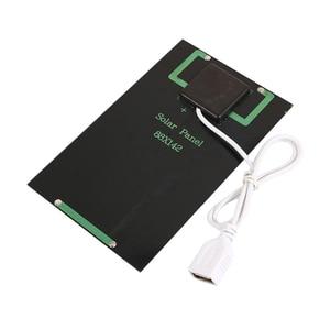 Image 2 - USB Панели солнечные на открытом воздухе 5W 5V Портативный Солнечный Зарядное устройство панели восхождение быстро Зарядное устройство поликристаллический кремний и планшеты на солнечных батареях для путешествий