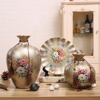 Fashion home decoration wine cooler decoration ceramic vase living room tv cabinet
