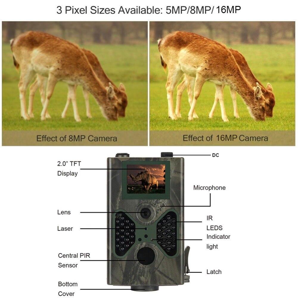 Caméra de chasse 16MP pièges Photo Email SMTP MMS GSM 1080 P Vision nocturne HC300M mise à niveau HC330M caméras de Surveillance de la faune - 5