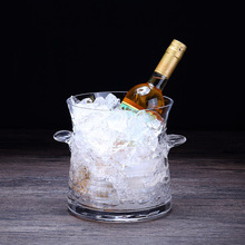 Handcrafted 2.7-liter Ice Barrel, Champagne Red Wine Barrel and Whisky Bar with Lead-free Crystal