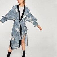Japan Style Print Vintage Harajuku Style Blouse Shirts Casual Japanese Kimono Tops Shirts