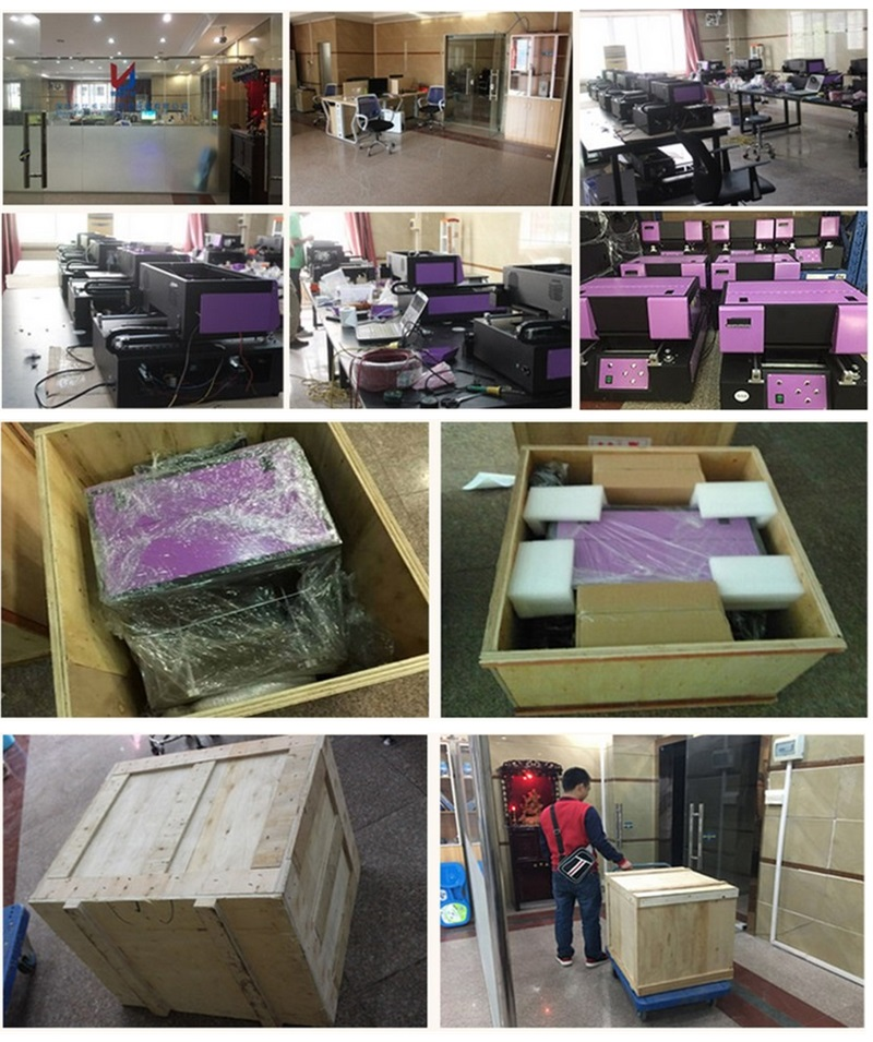A4 Size Digitale Automatische Telefoon Geval UV Led Flatbed Printer UV Flatbed Printer Klein formaat A4 UV Printer met 6 kleur afdrukken