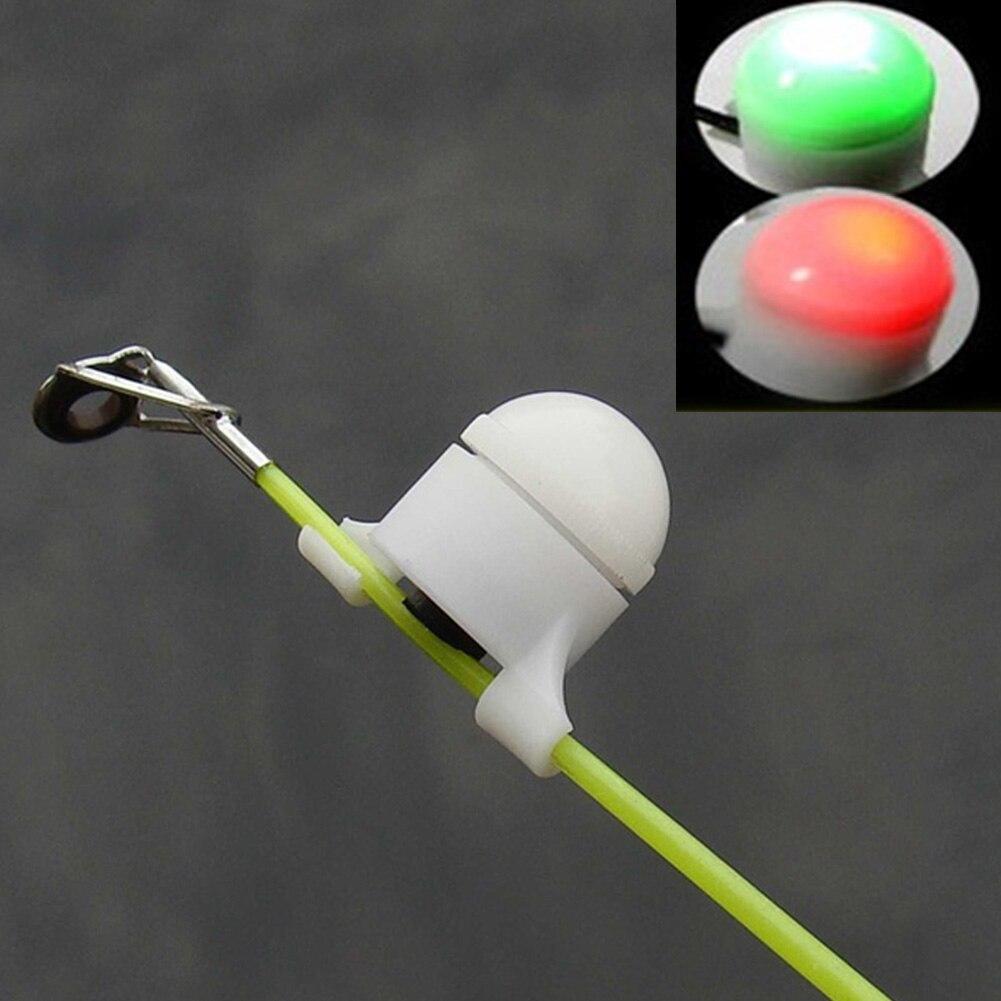 Mini LED Light Fishing Electronic Fish Bite Sound Alarm Bell Clip On Automatic Induction Tip Night Fishing Rod Fishing Tool