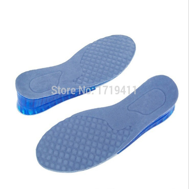 1 Pair Comfy Unisex Women Men Comfortable Silicone Gel Lift Height Increase Shoe Insoles Heel Insert Pad Cushion Protector