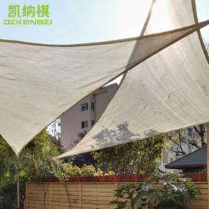 3.5 x 3.5 x 3.5 M/pcs Customized HDPE Net Sun Shade Sail 95% shading UV protection for garden net awning