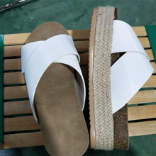 Summer new hemp rope woven thick-soled female sandals wear casual and slippers pattern fashion women slides shoes