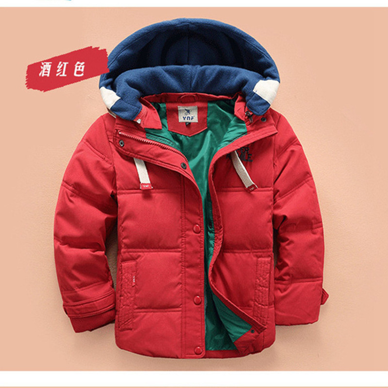 The new autumn and winter fashion boy down jacket coat children warm thick children wholesale