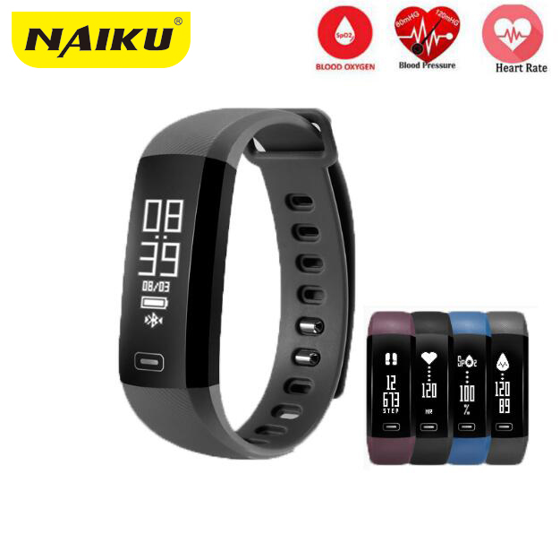 NAIKU M2 Smart Band Heartrate Blood Pressure Oxygen Oximeter Sport Bracelet Clock Watch Inteligente Pulso For iOS Android Men