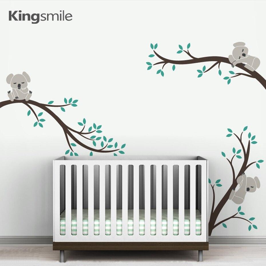 4 Cute Monkeys Wall Decals Sticker Nursery Decor Mural: Cute 3 Koalas Tree Branches Nursery Wall Art Decals