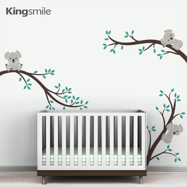 Tree Branch Wall Art aliexpress : buy cute 3 koalas tree branches nursery wall art