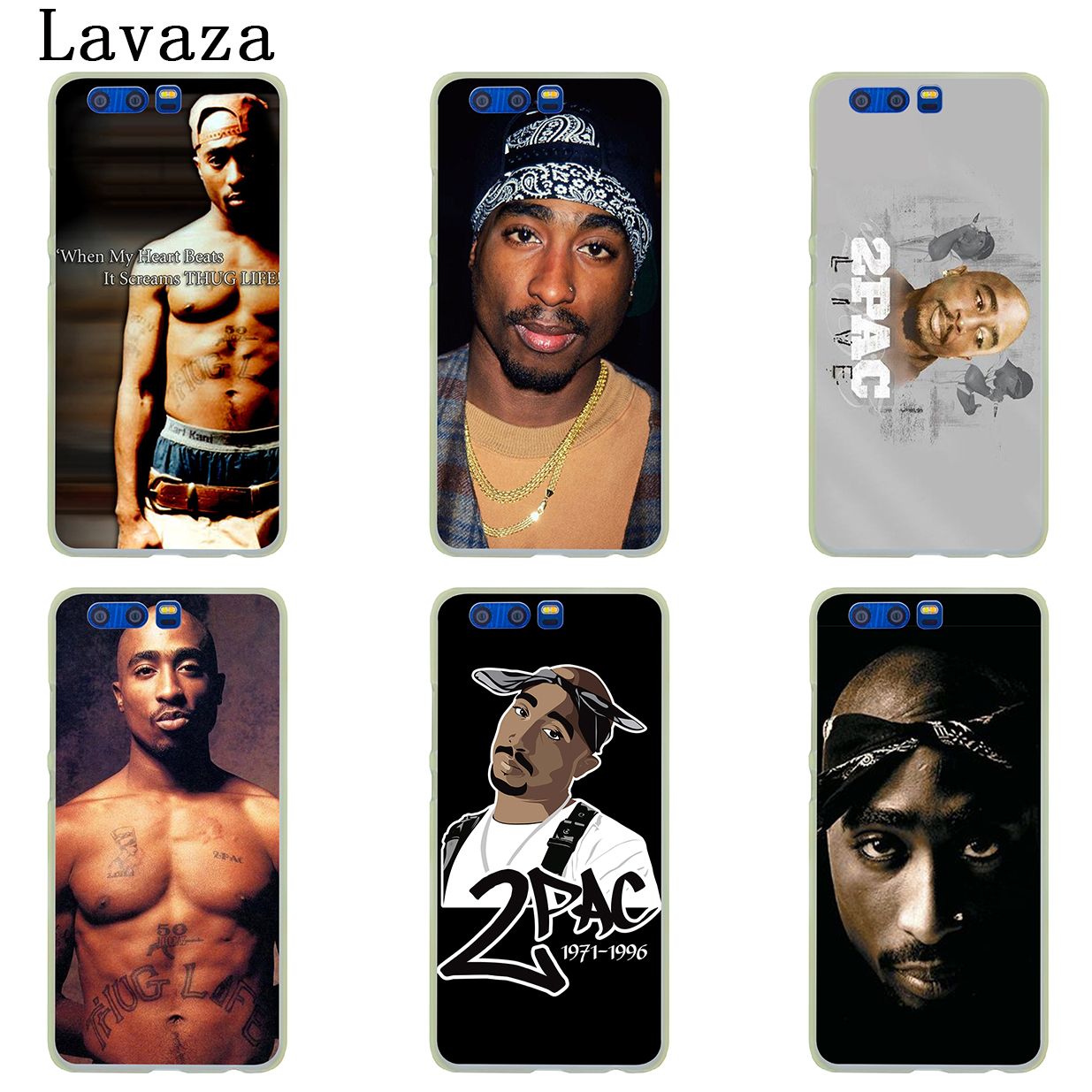 US $1 99 22% OFF|Lavaza 2Pac Tupac Amaru Shakur Hard Case for Huawei Y7 Y6  Prime Y5 Y9 2018 2017 Honor play 10 8 8C 8X 9 Lite 7C 7X 7A Pro Cover-in
