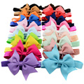 Venda quente 3.5 ''Bebê Menina Acessórios Para o Cabelo Crianças Headband Ribbon Bows Hairband Elástico de Cabelo bandas Bandeau Accesorios Pelo 568