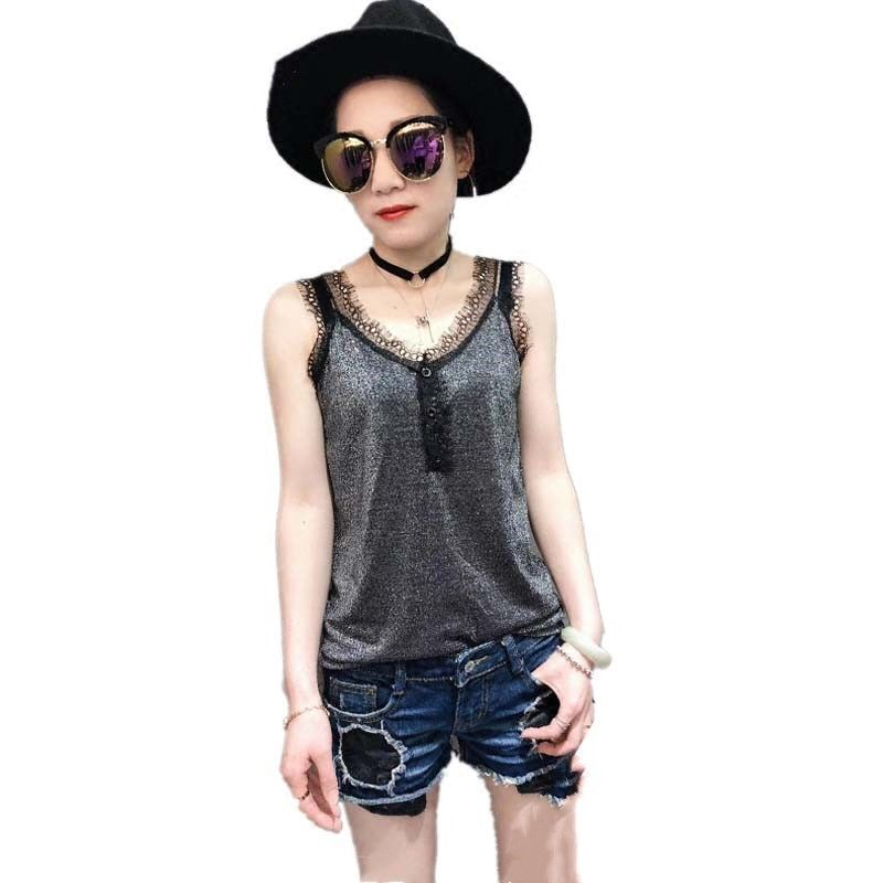 women clothing women T shirts women tees sleeveless v-neck t shirts sexy tees knitted european clothing high elastic 4