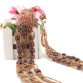 Bohemian Retro Waist Chain Ethnic Style Knotted Decorative Wide Belt For Women 2016 New Leisure Wild Belts Girdle Waistband Q232