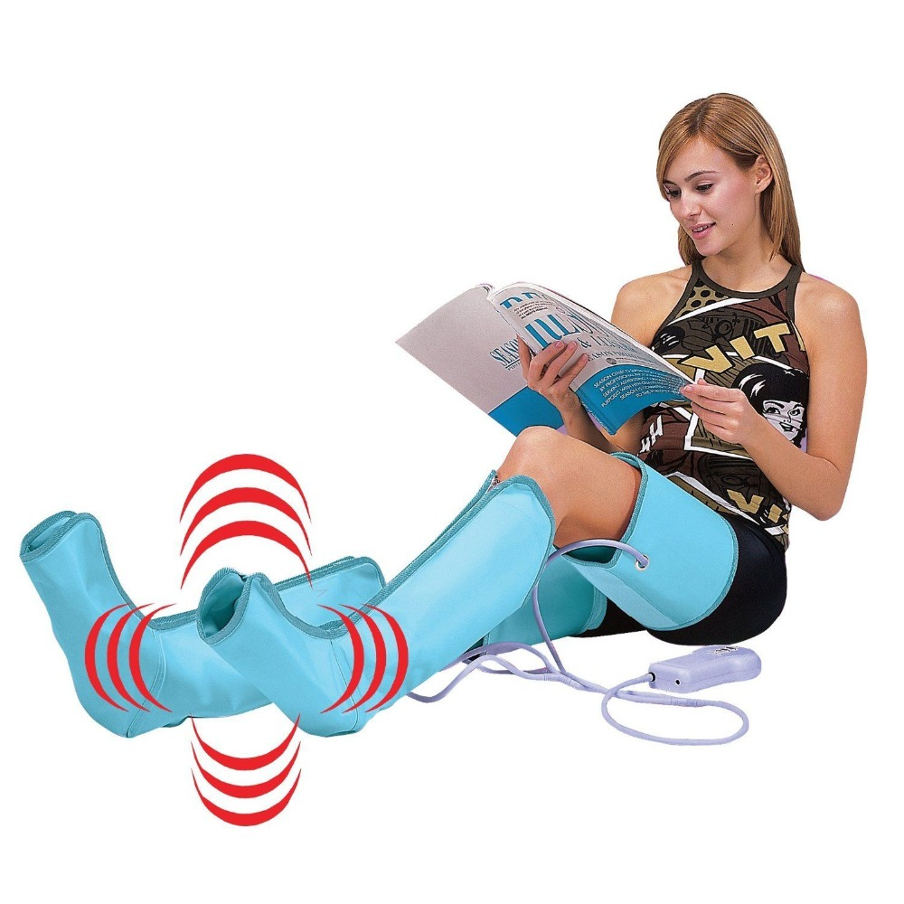 New Air Compression Leg Wraps Regular Massager Foot Ankles Calf Therapy Circulation stimulates the pumping action
