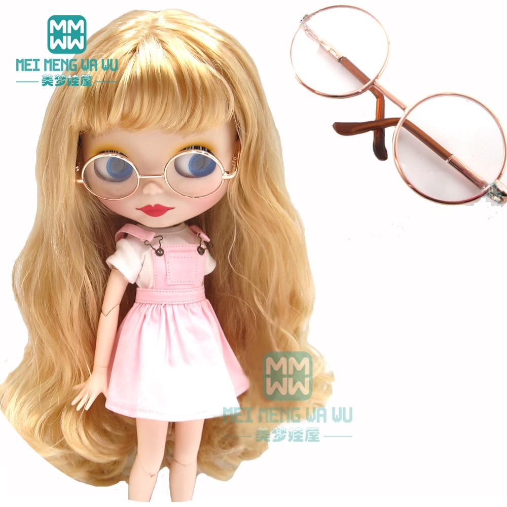 1pcs 30cm Azone Blyth Doll Accessories Fashion Doctor Glasses Gold, Black