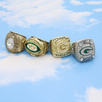 Drop shipping collection alloy 4pcs sets 1966 1967 1996 2010 GREEN BAY PACKERS championship rings for fans