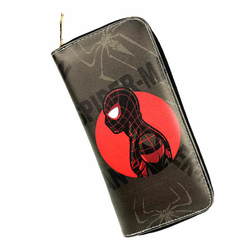 Free Shipping Anime Marvel Hero Spider-Man Long Wallet Round Zipper Lady's Purse