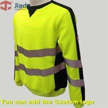 Jiade Adult High Visibility Yellow/HiVi Orange HiVi-Pink Hoodie Men's Work Reflective HoodieMen's Warm hoodie EN471 ANSI Hoody