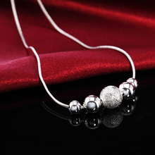 Charms Silver Plated Cute Lady Bead Necklace Fashion Jewelry