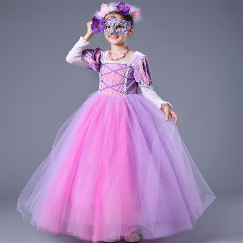 Baby Sofia Cosplay Costume for Girls Dress Kids Halloween Birthday Party Princess Tutu Dresses Children Fancy Ball Gown Clothes fancy girl mermai ariel dress pink princess tutu dress baby girl birthday party tulle dresses kids cosplay halloween costume