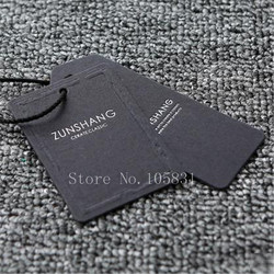 1000sets Custom Garments Hanging Tags Black Cardboard Clothing Labels Tag Different Types Hang Tags for Clothing Own Logo