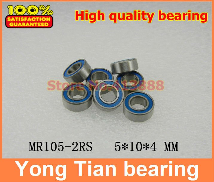10x MR105-2RS Rubber Sealed Ball Bearing Miniature Bearing 5 x 10 x 4mm Blue RS